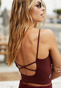 NEW Free People Movement Strappy Back Tighten Up Tank Brown XS/S-M/L $34| FF-00
