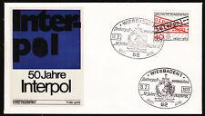 Bund 759 FDC, 50 Jahre Interpol