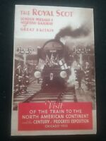 THE ROYAL SCOT 1933 LEAFLET ,  INTERIOR PHOTO'S OF LUXURY COMPARTMENTS , RAILWAY