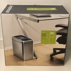 New Simple Human stainless steel 20l slim open recycler Kitchen Office