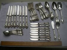 Lunt Sterling ALEXANDRA (1961) 53 PIECE SERVICE FOR 8-Soups, Butters & Servers