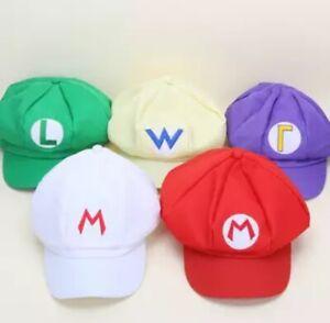Mario bros hat mario halloween costume Luigi- Wario- Waluigi