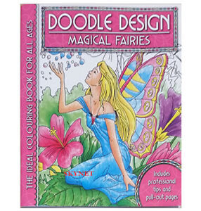 MAGICAL FAIRIES Colouring Book - Doodle Design - Art Colour Therapy Relaxing
