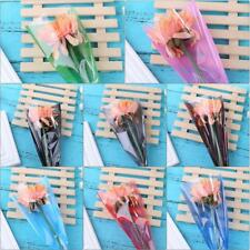 Single Rose Plastic Package 50pcs Transparent Flower Wrapping Paper Gift Decor