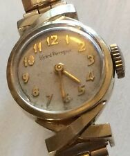 Stylish  Ladies Top Make Vintage 1950's Solid Gold Girard Perregaux Wristwatch