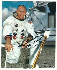 More details for alan bean apollo 12 signed 8x10 nasa litho - uacc & aftal rd space autograph