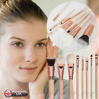 UK 8Pcs Cosmetic Makeup Brush Face Powder Blusher Eye Shadow Brushes Contour Set