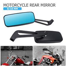Universal 8/10mm Espejo Retrovisor Rectangular Aluminio para Honda Yamaha Moto