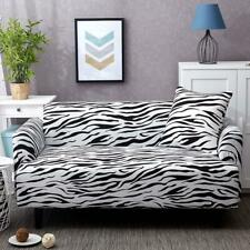 1-4 Seat Elastic Sofa Cover Zebra Print Slipcover Settee Couch Stretch Protector