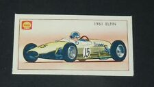 CARTE AUTOMOBILE SHELL RACING CARS CARD 1964 #46 1961 ELFIN