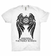 Sobrenatural Camiseta Winchester Brothers cazadores equipo Sam Dean Bobby familia TV