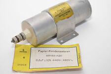 Riesen Papier-Kondensator v. Siemens B81162-AB11, 0.5 µF, 440 VDC / 450 VAC, NOS