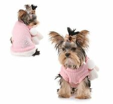 Puppy Angel Snowflake Pink Pullover Jumper Sweater Scarf Set  SM