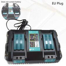 Caricabatteria doppio per Makita 14.4V 18V BL1830 Bl1430 DC18RC DC18RA EU P Y5O5