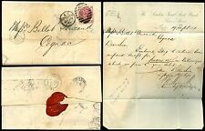 GB QV 1871 THREEPENCE Pl.6 QA on COVER to COGNAC..LONDON JOINT STOCK BANK + SEAL