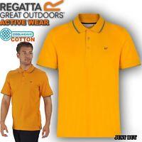 Regatta Kaine Polo T Shirt Men Cotton Walking Hiking Camping Work Gym Summer Top