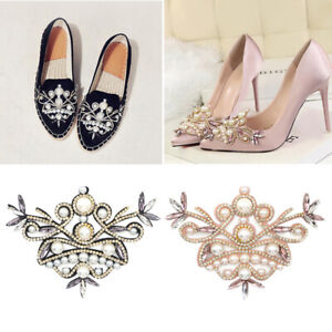 Diamante Rhinestone Shoe Clips Charms Buckle Removable Crystal Shoe Decoration