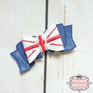 UK Union Jack United Kingdom Hair Bow Clip