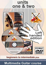 Learn to play Guitar - LEFT HANDED lessons - 2 year course acoustic & electric
