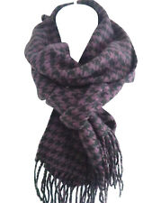 women&men's black&white houndstooth scarf wrap check plaid soft long scarves HOT