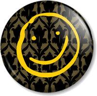 "Sherlock Holmes Smiley 25mm 1"" Pin Button Badge Benedict Cumberbatch Watson Icon"
