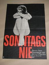 SONNTAGS NIE - Poster Plakat - Jules Dassin Melina Mercouri