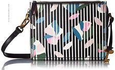 FOSSIL women's CAMPBELL CROSSBODY BAG Purse Handbag Floral Leather ZB7512992