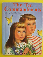 "1952 Rand McNally Book~THE TEN COMMANDMENTS~""Junior Elf Book~FINE~Charming Pics"