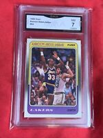 Near Mint 7: 1988 Kareem Abdul-Jabbar, Skyhook!, Fleer #64, Los Angeles Lakers