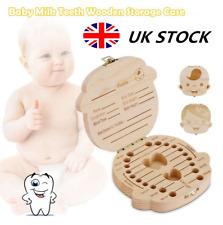 Baby Wooden Tooth Storage Box Kids Children Teeth Holder Keepsake Organizer Gift
