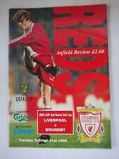 Orig.PRG   UEFA Cup  1995/96   FC LIVERPOOL - BRÖNDBY IF  !!  SELTEN