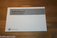 Vauxhall Audio Manuel CD 30, CD 30 MP3, Manuel de 2004-2009, P/N TS1658-A-07
