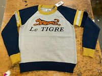 Le Tigre Sweater Men's Striped 80's 100% authentic knit New w Tags Large X-Large