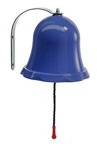 DARK BLUE BELL WITH FITTINGS FOR GARDEN PLAYTOWER/TREE HOUSE-BNIB-FREEPOST