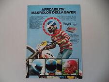 advertising Pubblicità 1980 CASCHI IN MAKROLON BAYER e MOTO KTM