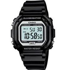 Casio F108WHC-1A, Digital Chronograph Watch, Black Resin, Alarm, 7 Year Battery