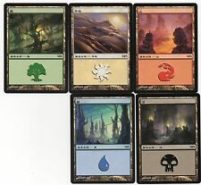 MTG Japanese Non Foil MPS Land Set 2010 SOM Series NM