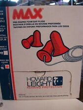 Howard Leight Max 30 Ear Plugs With Cord 100