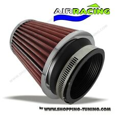 FILTRE AIR RACING 2 ROUGE POUR KIT ADMISSION DIRECT AUTO TUNING ADAPTATEUR FLOW
