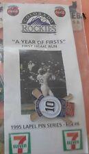 Colorado Rockies 1st Home Run 1994 MLB Baseball 7Eleven Coke Sponsor Pin New