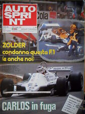 Autosprint 21 1981 Zolder condanna la F1. Lieger - Matra. De Angelis [SC.52]