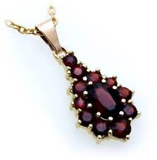 Ladies Pendant m. Granat Silver 925 gold plated Garnet Sterling 1920