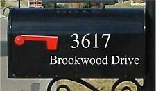 Mailbox Personalized Custom Mailbox Number and Street Name Sticker 5X11