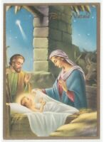 Christmas Card Nativity Scene Jesus Child Ventura Mantis Vintage Non Viaggiata