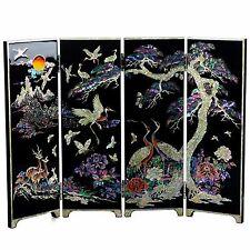 [JAGAE] Good as Gift Korean Black Four-Panel Mother-of-Pearl Folding Screen