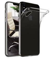 For Apple iPhone XR 6.1 Clear Slim Gel Case Cover and Glass Screen Protector
