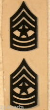 US Army Sergeant Major Subdued Rank Insignia Collar Pins Pair