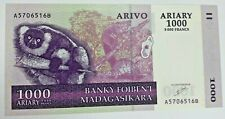 2004 Madagascar 5000 Francs/1000 Ariary Banknote with Tortoise-P89a