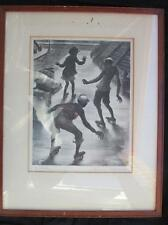 Signed 'AAA' Lithograph • Lawrence Beall Smith • THE SKATERS •