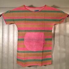 Vintage 60s NEW Striped Day Glo Paper Dress Mod Go-Go Psychedelic NOS In Package